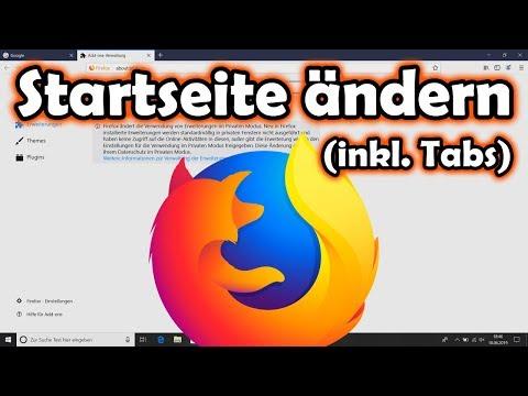 Mozilla Firefox Startseite ändern (inklusive Tabs)