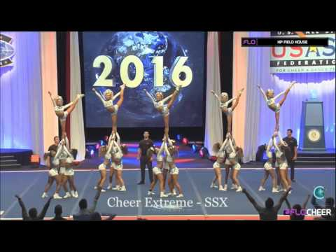Cheer Extreme - SSX - Worlds 2016 - Sunday