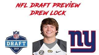 Drew Lock Draft Preview Video  Should the New York Giants draft Drew Lock