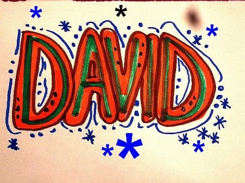 David In Graffiti Letters For Birthday Cards Room Sign T Shirts