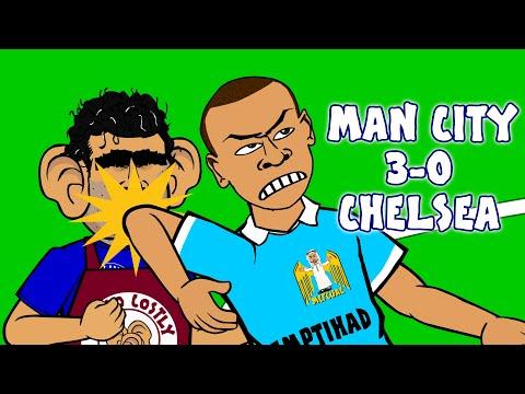 Man City vs Chelsea 3-0 (2015, Goals Highlights Kompany Fernandinho Aguero Begovic Costa)