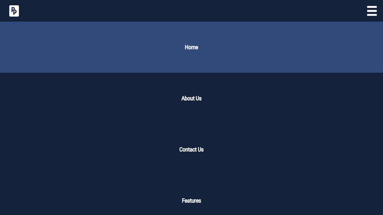Fullscreen navigation bar with HTML CSS and JAVASCRIPT