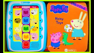 Peppa Pig Noisy Toys - Video MeReader Jr Electronic Book with Activities, Music and Sounds