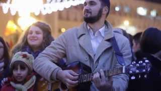 Colinde in Piata Operei din Timisoara -
