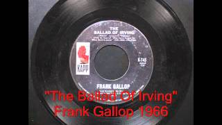 The Ballad Of Irving - Frank Gallop 1966