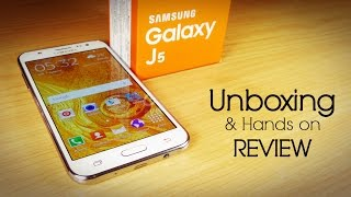 Samsung GALAXY J5 Unboxing & Hands on Review-All in one! (ft Moto G3)