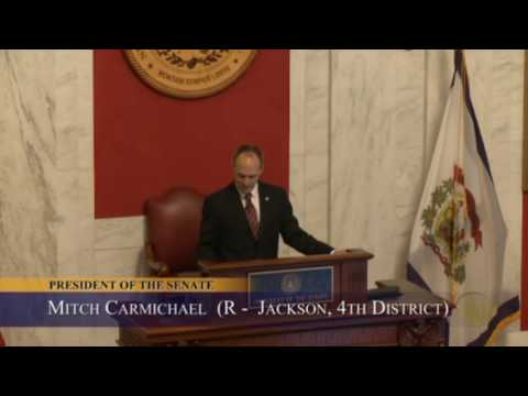 WV Senate - Senator Mitch Carmichael Becomes Next President of the West Virginia Senate