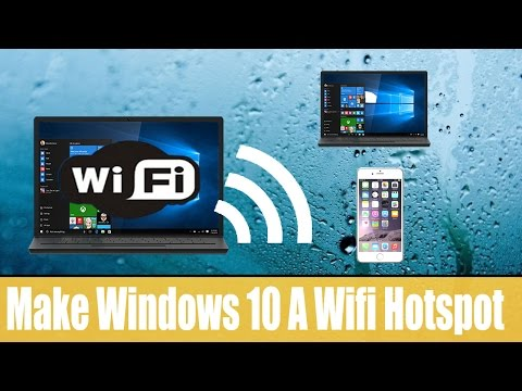 How To turn windows 10 into a wifi hotspot -- no software require