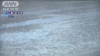 三重・尾鷲市で川氾濫「レベル5」の災害発生情報(19/10/19)