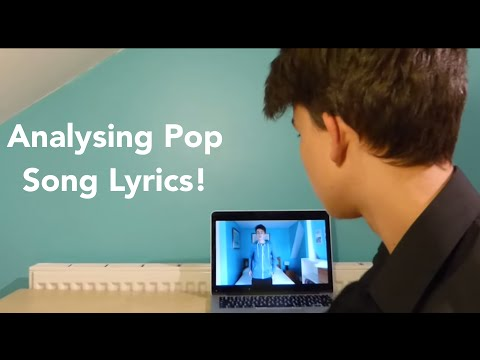 Analysing Pop Song Lyrics 1 - Can't Feel My Face