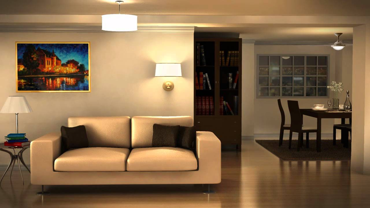virtual set living room youtube