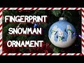 How To Make A Fingerprint Snowman Ornament 📍 How To With Kristin