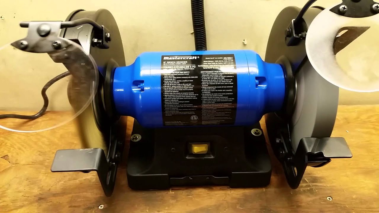 Canadian Tire 4 8a 8 Bench Grinder Youtube