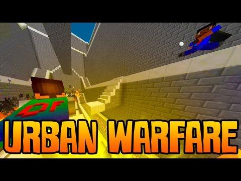 "Minecraft URBAN WARFARE ""EXPLOSIVE PVP!"" w/ Ali-A, Nade, & Vikk!"