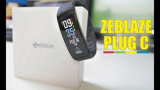 Zeblaze Plug C - Fitness Tracker - Always on Screen - Continuous Heart Rate