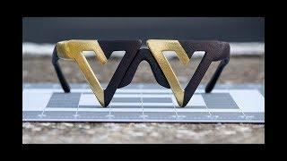 Voluntaryist Sunglasses Prototype - 3D Printed Sunglasses from Shapeways