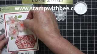 Embossed Vellum Flower Video