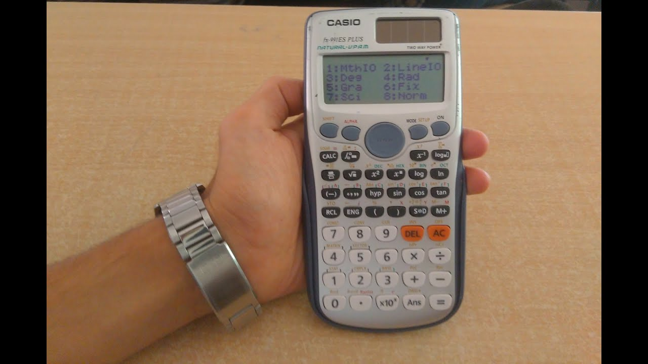 How to setup Casio scientific calc to get answer in decimal points ...