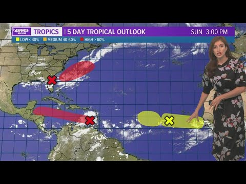 Sunday evening tropical forecast: Tracking four areas in the Atlantic