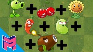 Plants vs Zombies Fusion Hack Animation Peashooter + Cherry + Sunflower + Jalapeno + Bean + Coconut