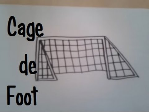 dessiner une cage de foot youtube. Black Bedroom Furniture Sets. Home Design Ideas