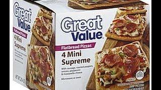 Walmart Great Value Mini Flatbread Supreme  Pizza