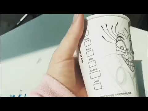 yzma drawing on starbucks cup