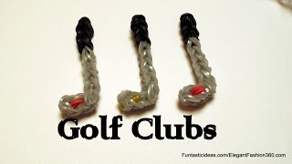Golf Club Charm - How to Rainbow Loom Design - Sport Series