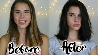 WATCH ME: Cut And Dye My Hair From Light To Dark | Sara Farre