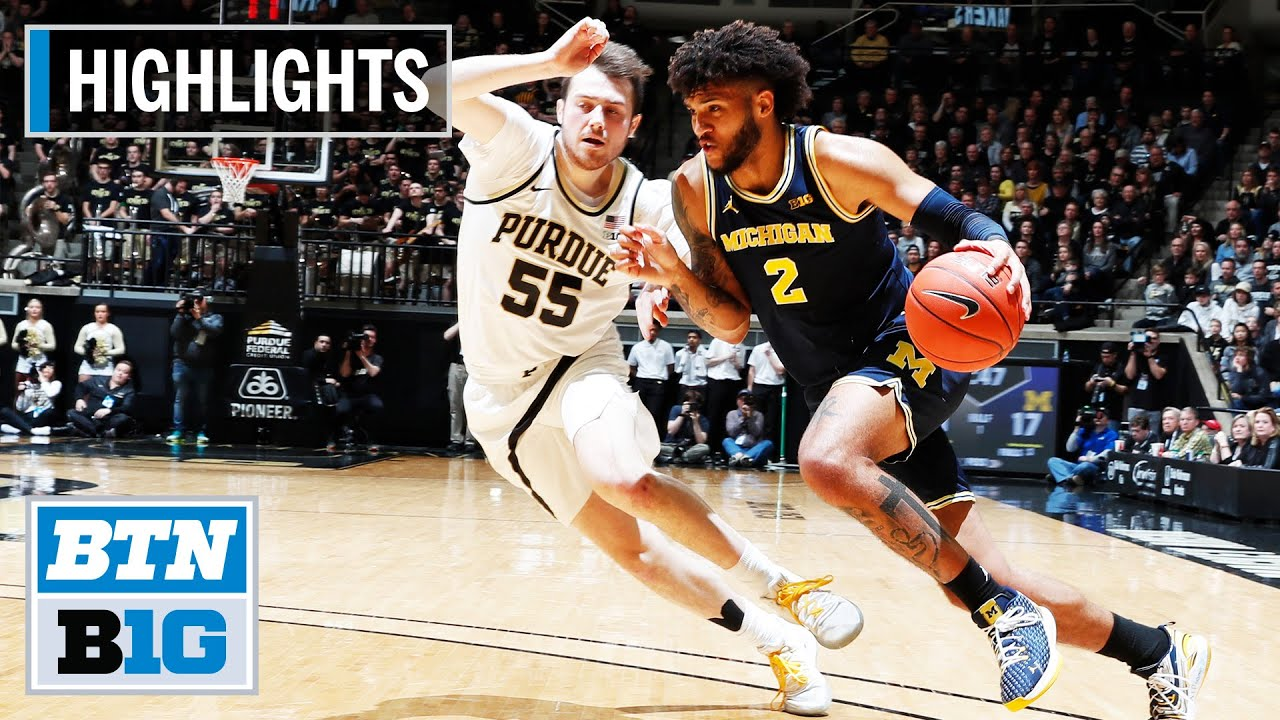 Purdue Boilermakers vs. Michigan basketball: Video Highlights ...