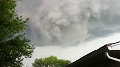 Funnel clouds Tecumseh KS 5/21/11