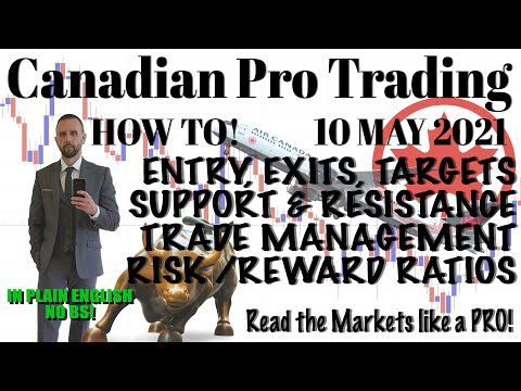 How to Trade Like a Pro.... Entry, Exits, Support, Resistance, Trends!