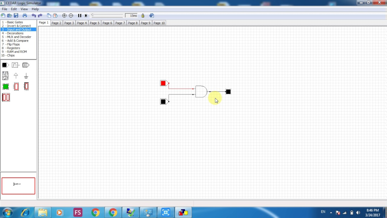 Logic gates and circuit designing using CEDAR simulation tool (Urdu ...