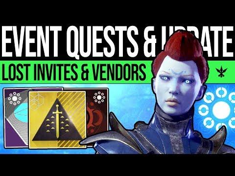 Destiny 2 | EVENT QUESTS & VENDOR CHANGES! Lost Invitations, Rahool's Vault, Secret Exotic & Updates thumbnail