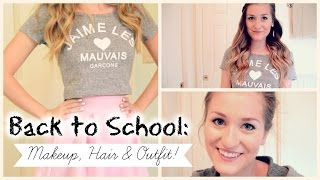 Back to School Makeup, Hair & Outfit 2014! Thumbnail