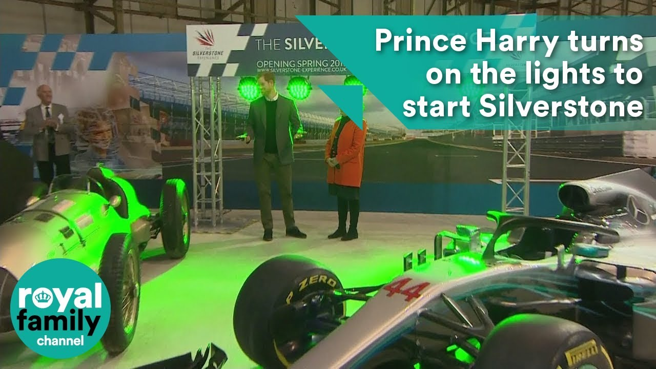 Prince Harry turns on the lights to start Silverstone Experience ...