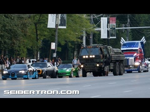 Transformers 4 filming in Chicago - Autobots on Columbus Drive