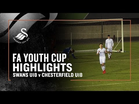 FA Youth Cup Highlights: Swans U18s v Chesterfield U18s