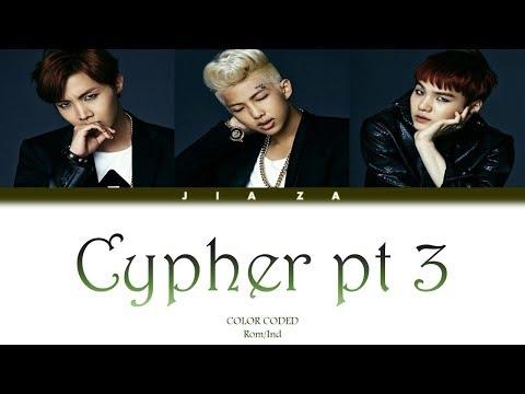BTS 'CYPHER PT 3'  (Sub Indo) Lirik {Color Coded-Rom-Ind}