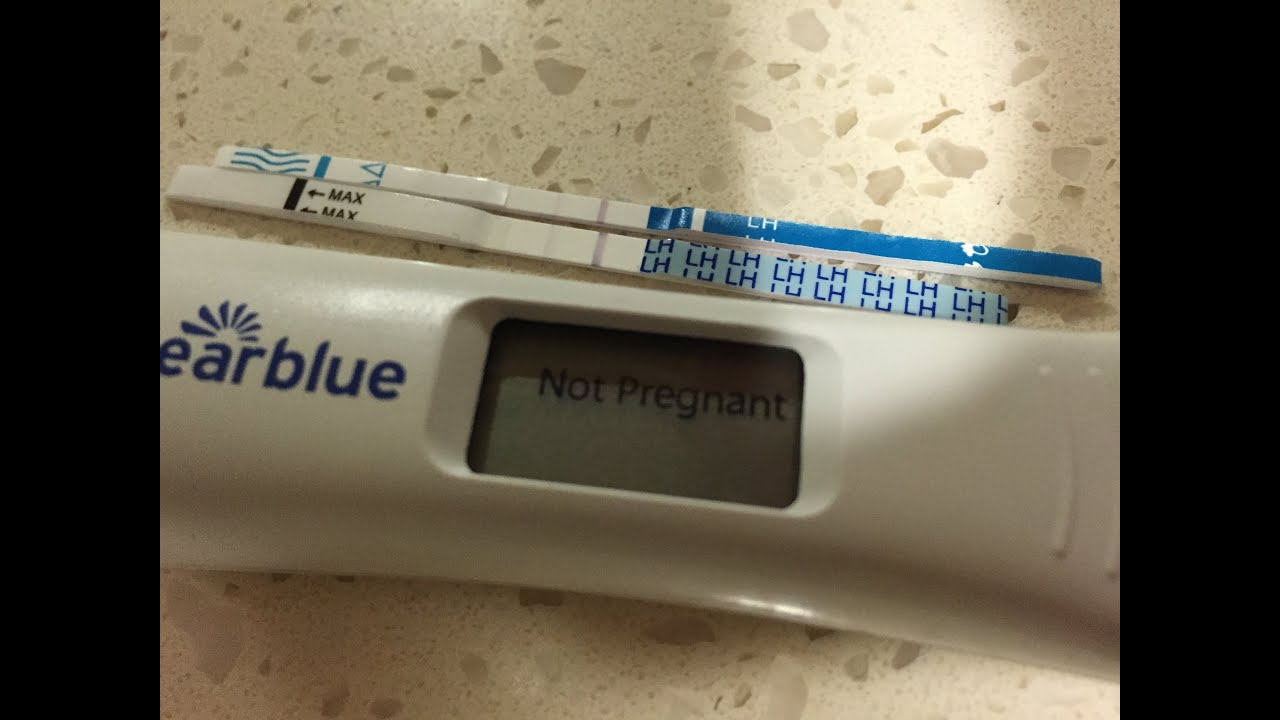 positive clear blue digital pregnancy test inside