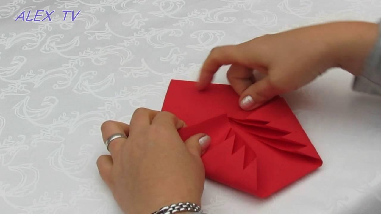 servietten falten einfach tischdeko weihnachtsbaum youtube. Black Bedroom Furniture Sets. Home Design Ideas