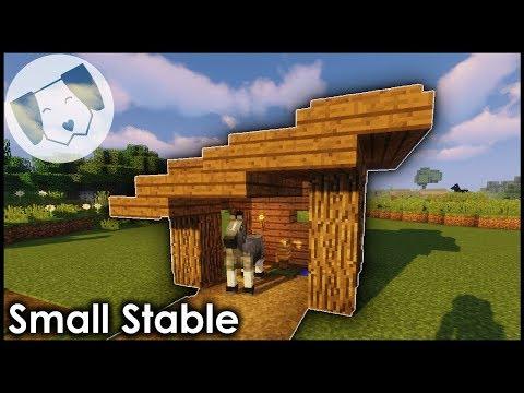 Minecraft Tiny Stable Tutorial Youtube