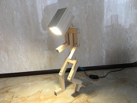 How to Make A Wooden Desk Lamp with your Own Hands
