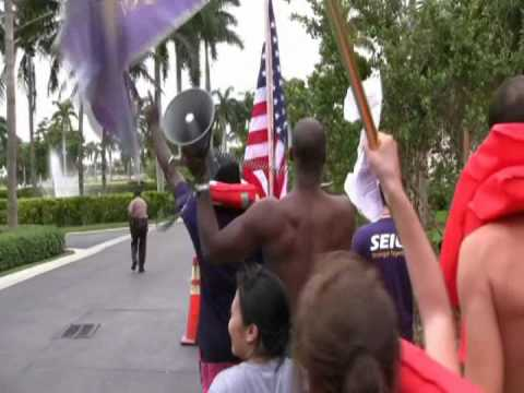 Fisher Island Protest - Short Version