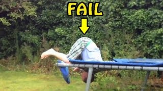 Trampoline Jump Fails Compilation 2017 [NEW]