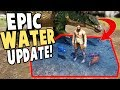 FINALLY!! BUILD Your Own WATER POOLS IN ARK! EPIC CREATURES - Ark Survival Evolved Modded Gameplay