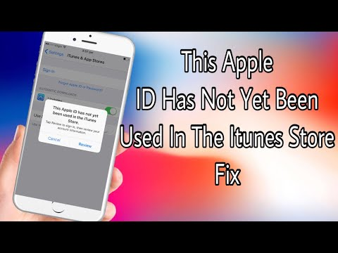 This Apple ID Has Not Yet Been Used With The Itunes Store 2020