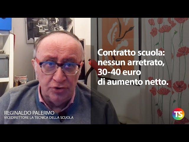 Contratto scuola: nessun arretrato, 30-40 euro di aumento netto