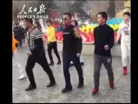 Chinese uncles bring square dancing to a next level with their shuffle moves