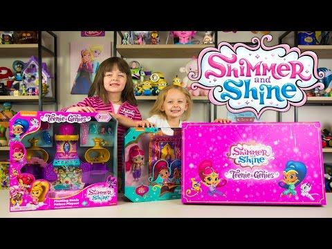 HUGE Shimmer and Shine Teenie Genies Surprise Box Palace Playset Girls Flying Carpet Kinder Playtime